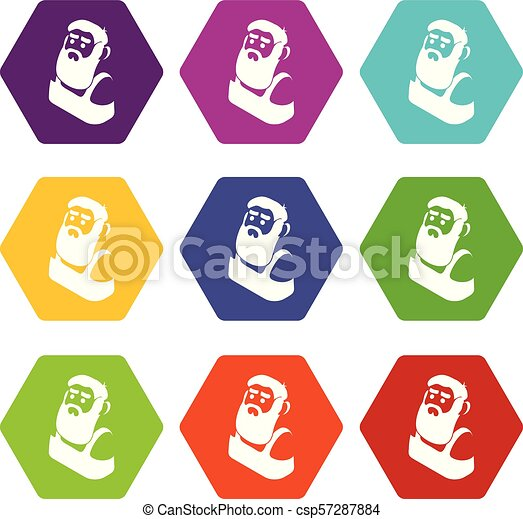 Blacksmith icons set 9 vector - csp57287884