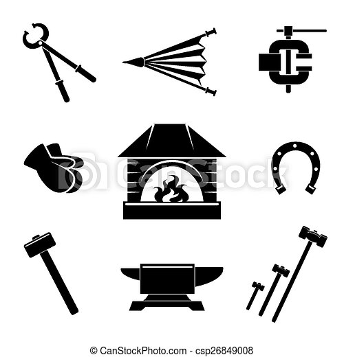 Blacksmith icons - csp26849008