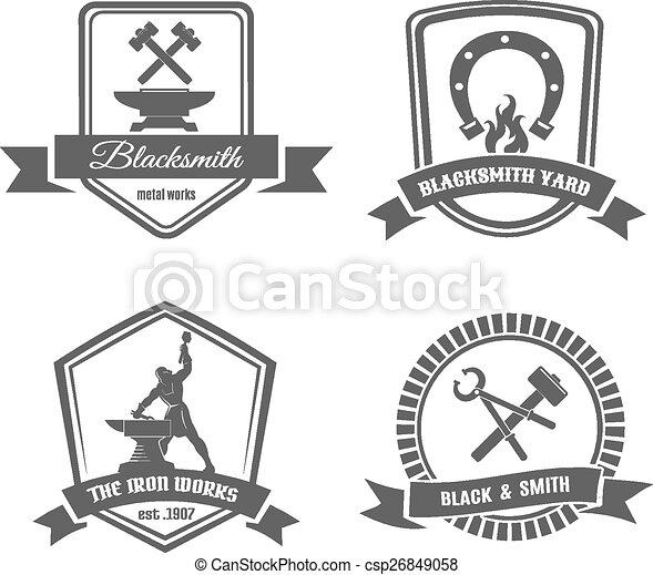 Blacksmith labels - csp26849058