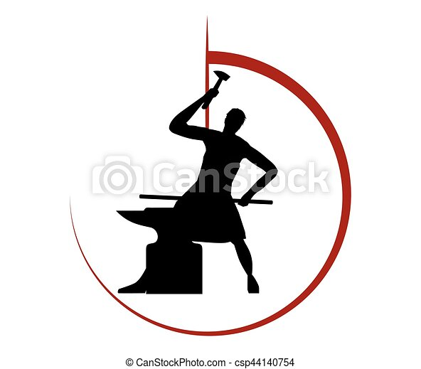 Blacksmith Logo Design - csp44140754