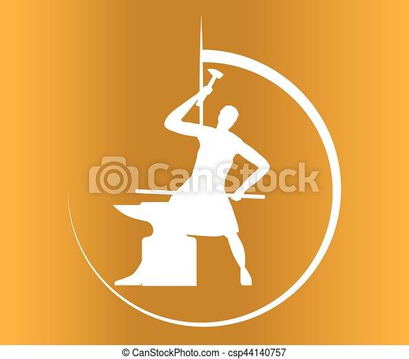 Blacksmith Logo Design - csp44140757