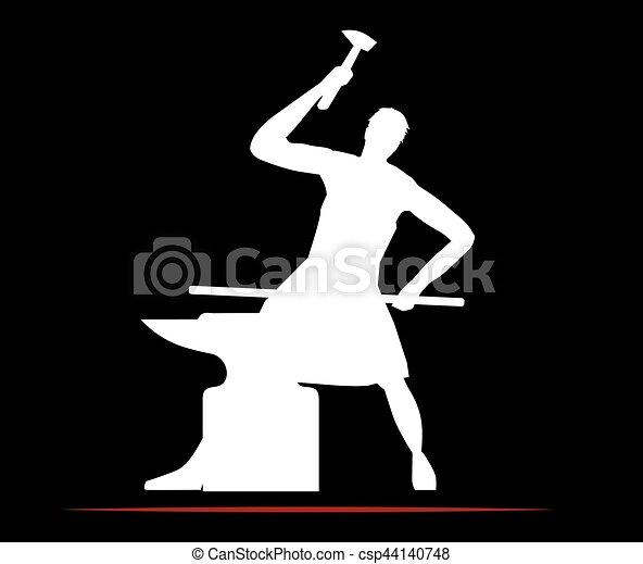 Blacksmith Logo Design - csp44140748