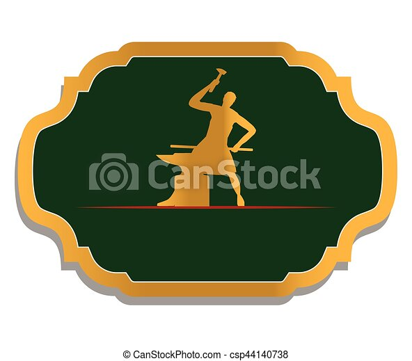 Blacksmith Logo Design - csp44140738