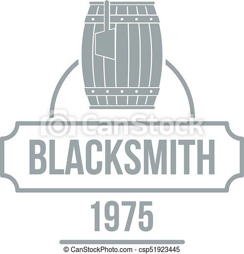 Blacksmith logo, simple gray style - csp51923445