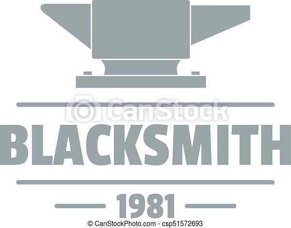 Blacksmith logo, vintage style - csp51572693