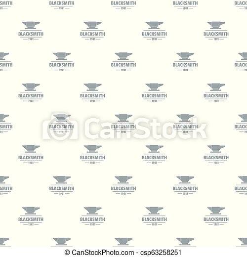 Blacksmith pattern vector seamless - csp63258251