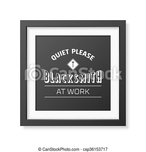 Blacksmith typographical background.  - csp36153717