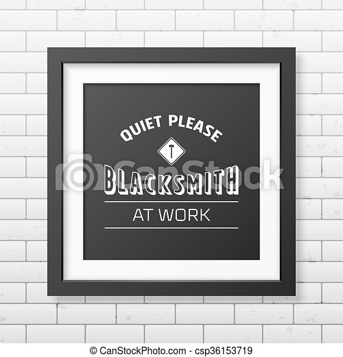 Blacksmith typographical background.  - csp36153719