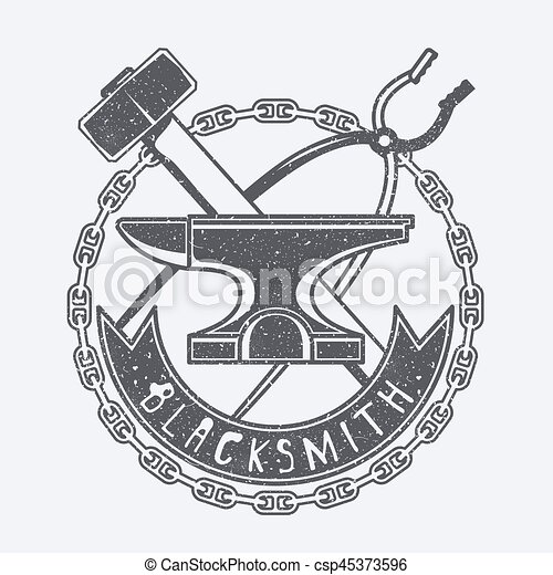 Blacksmith vector illustration - csp45373596