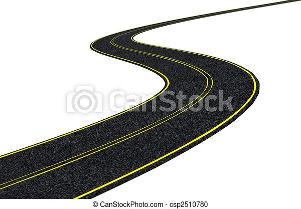 blacktop tarmac road  - csp2510780
