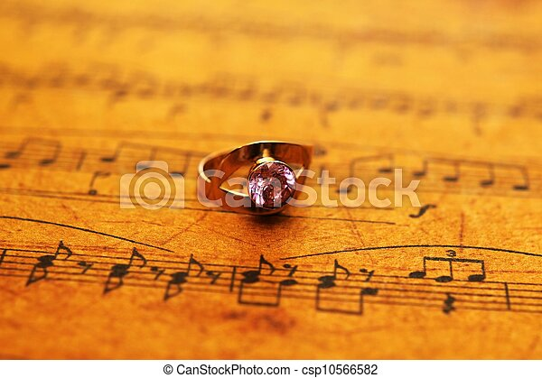 blad, ring, muziek - csp10566582