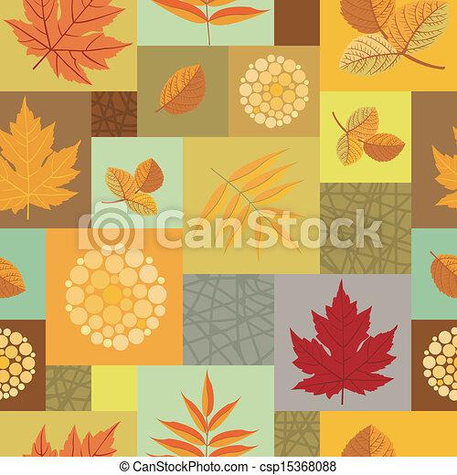 bladen, mönster, seamless, bär - csp15368088