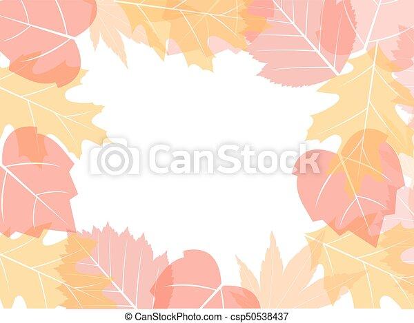 bladeren, achtergrond, herfst - csp50538437