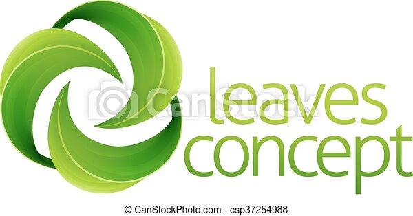 bladeren, concept, cirkel - csp37254988