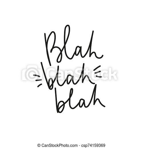 blah, inspirador, blah, letras, cartel - csp74159369