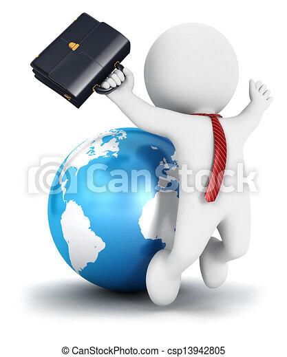 blanc, 3d, business, reussite, gens - csp13942805