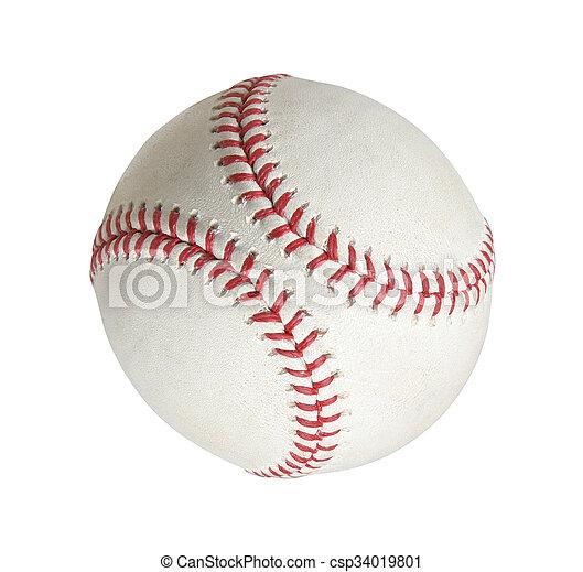blanc, base-ball, isolé, fond - csp34019801