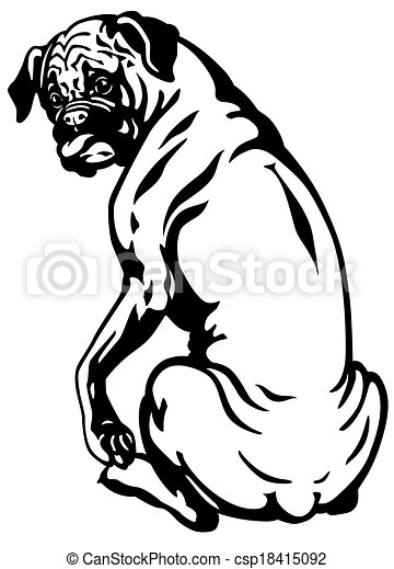 Blanc boxeur chien noir race image chien boxeur noir blanc - Dessin chien boxer ...