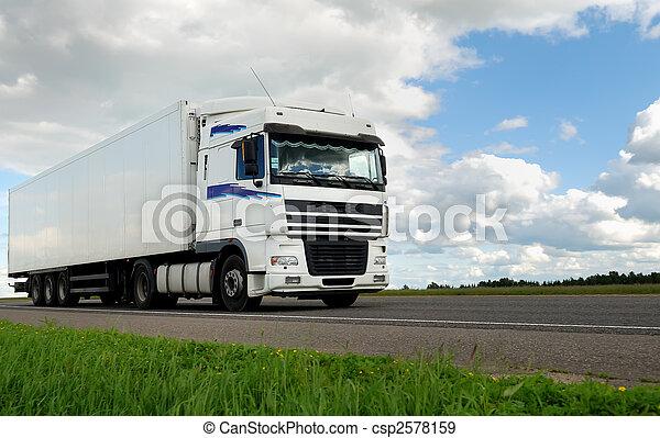 blanc, camion, caravane - csp2578159