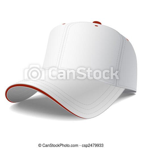 blanc, casquette, base-ball - csp2479933