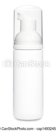 blanc, désodorisant, bouteille, gabarit - csp14932454