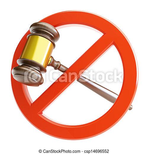 blanc, droit & loi, fond, non - csp14696552