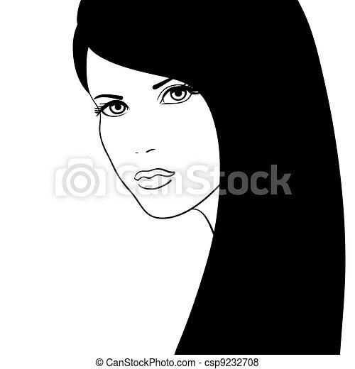 Blanc Fille Noire Figure