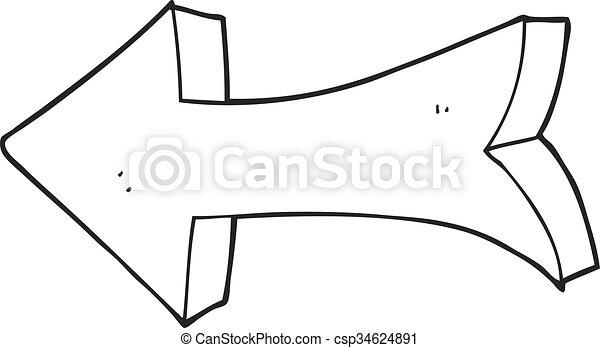 Dessin De Fleche blanc, flèche noire, pointage, dessin animé. pointage, flèche noire