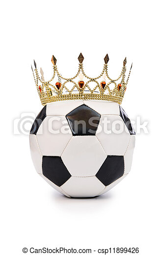 blanc, football, couronne - csp11899426