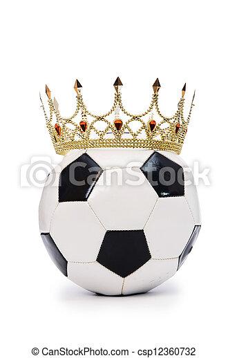 blanc, football, couronne - csp12360732