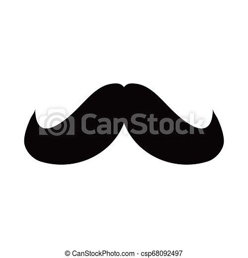 blanc, hipster, moustache, fond - csp68092497