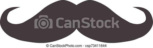 blanc, italie, arrière-plan., ui., icône, plat, style., logo, illustration, site, vecteur, ton, symbole., moustache, app, toile, simple - csp73411644