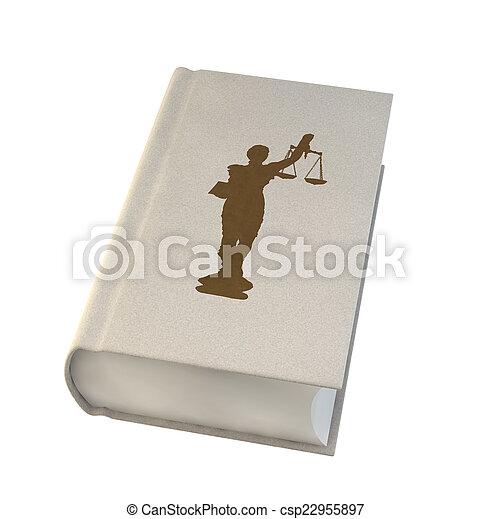 blanc, livre, isolé, fond, droit & loi - csp22955897
