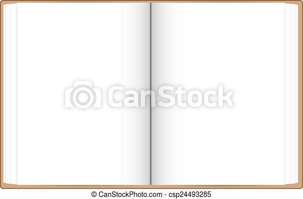 Blanc Livre Ouvert Pages