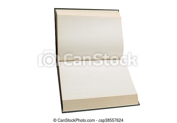 Blanc Livre Ouvert Pages Vide