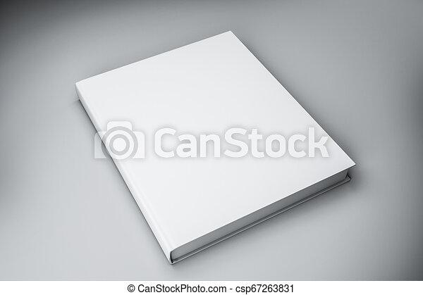 Blanc Livre Vide Haut Livre Cartonne Vide Bureau