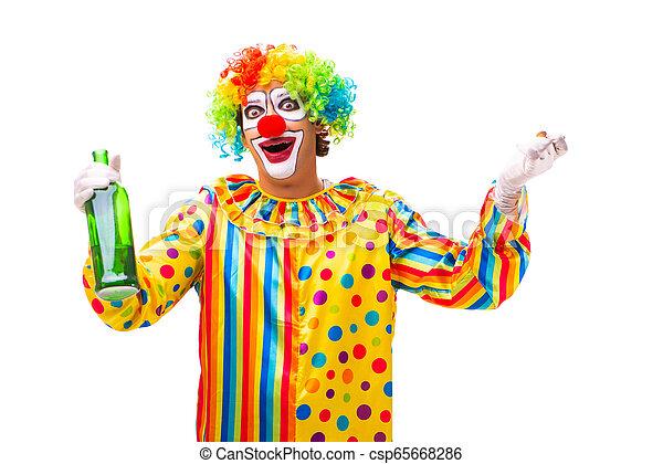blanc mâle, isolé, clown - csp65668286
