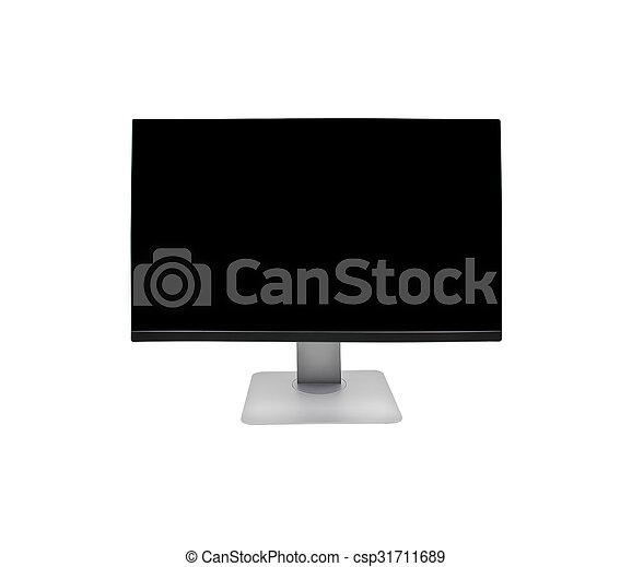 blanc, moniteur ordinateur, fond, isolé - csp31711689