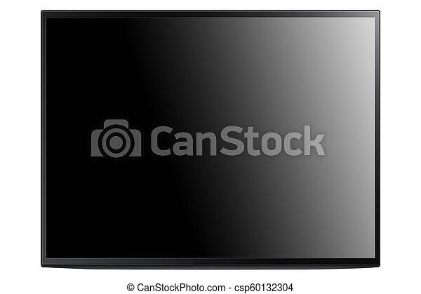 blanc, moniteur ordinateur, isolé - csp60132304