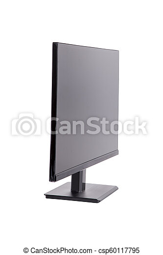 blanc, moniteur ordinateur, isolé - csp60117795