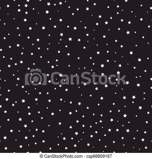 blanc, noir, étoiles, espace - csp66809167