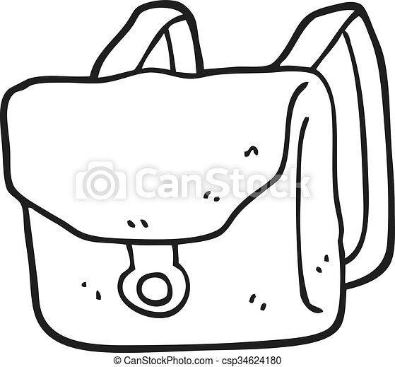 Blanc noir sac dos dessin anim sac dos noir - Coloriage sac a dos ...