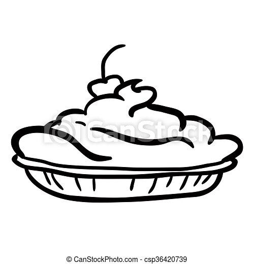 blanc, noir, tarte - csp36420739