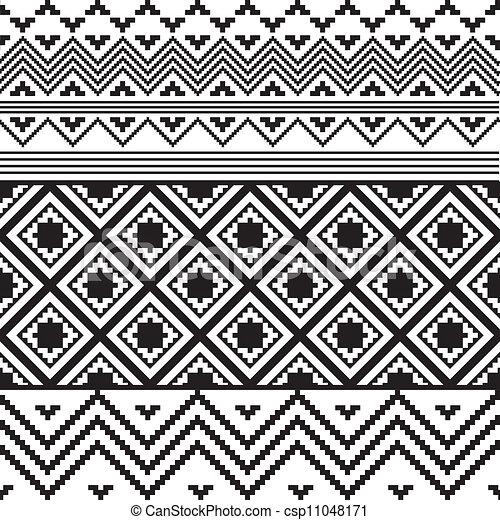 blanc, noir, texture, ethnique - csp11048171