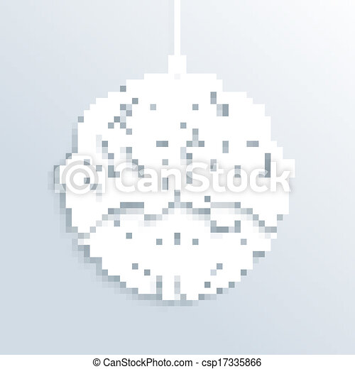blanc, ornement, noël, joyeux, babiole - csp17335866