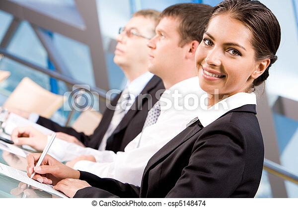 blanc, ouvrier, collier - csp5148474