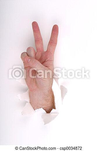blanc, paix - csp0034872