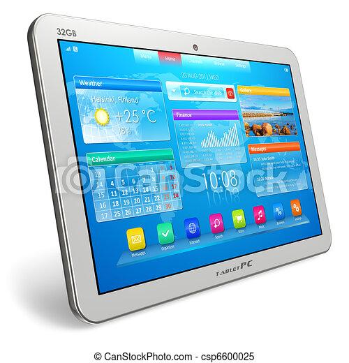 blanc, pc tablette - csp6600025