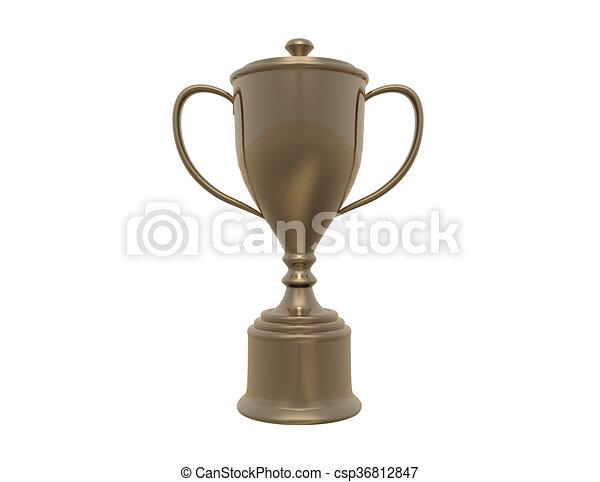 blanc, trophée, fond - csp36812847