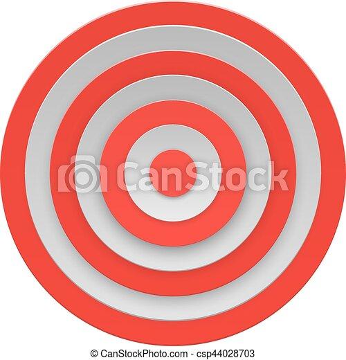 blanc, vecteur, cible, fond, isolé - csp44028703